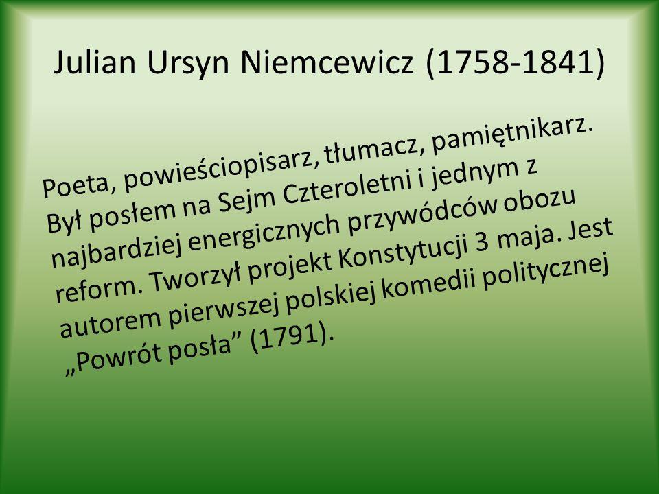 Wojciech Bogusławski (1757-1829) Nazywany jest ojcem polskiej sceny.