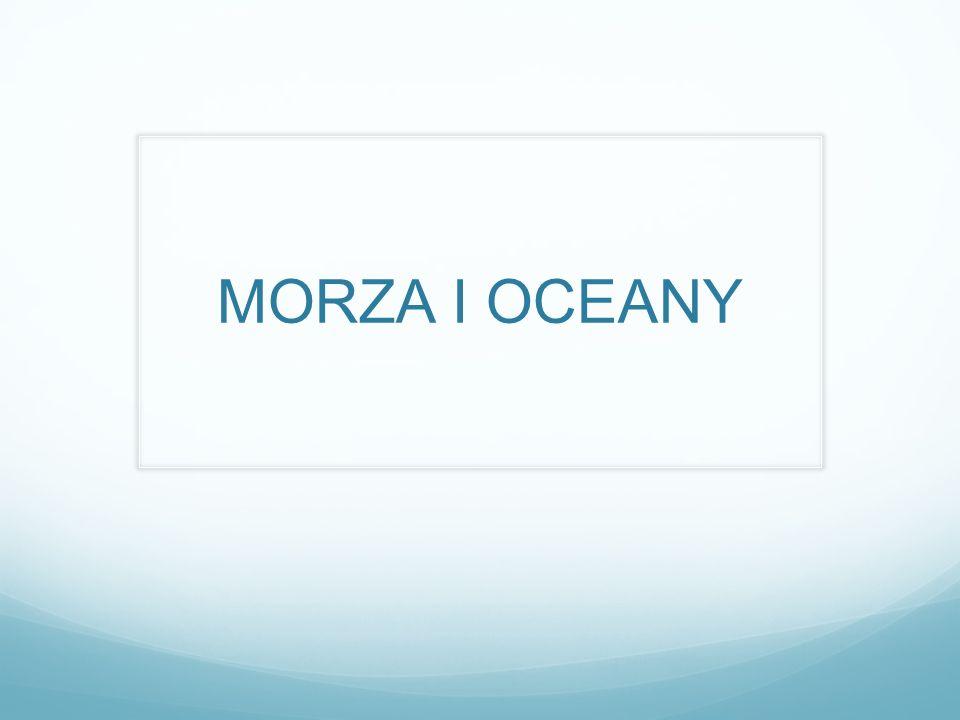 CEL: Poznanie oceanów i mórz i terminów z nimi związanych