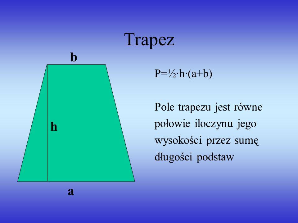 Deltoid P=½·d 1 ·d 2 Pole deltoidu jest równe połowie iloczynu długości jego przekątnych d1d1 d2d2