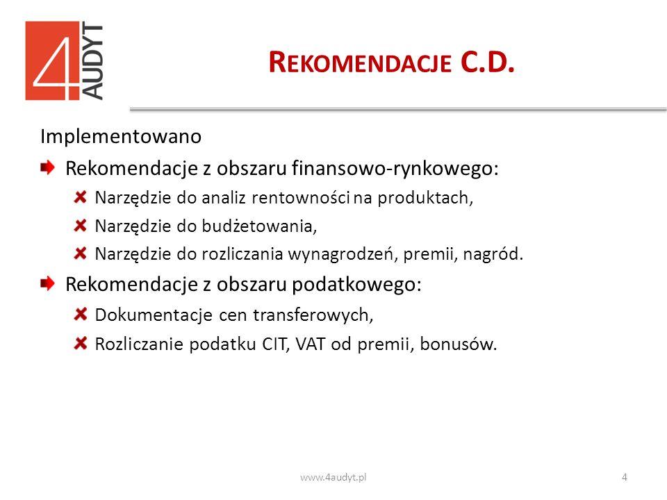 R EKOMENDACJE C.D.