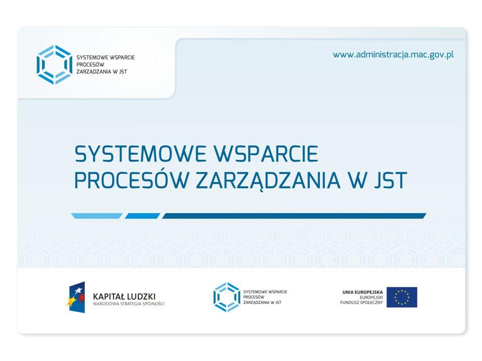 Zakres działań Obserwatorium Innowacji 1 Gromadzenie przykładów udanych wdrożeń innowacyjnych rozwiązań zastosowanych w JST (mapa praktyk innowacyjnych, studia przypadków zastosowania innowacji w JST, baza danych on-line innowacyjnych rozwiązań dedykowanych JST) 2 Opracowanie wytycznych dotyczących wdrażania i promocji innowacji w procesie dostarczania usług publicznych 3 Ocena kosztów i korzyści wdrożenia innowacyjnych rozwiązań w JST