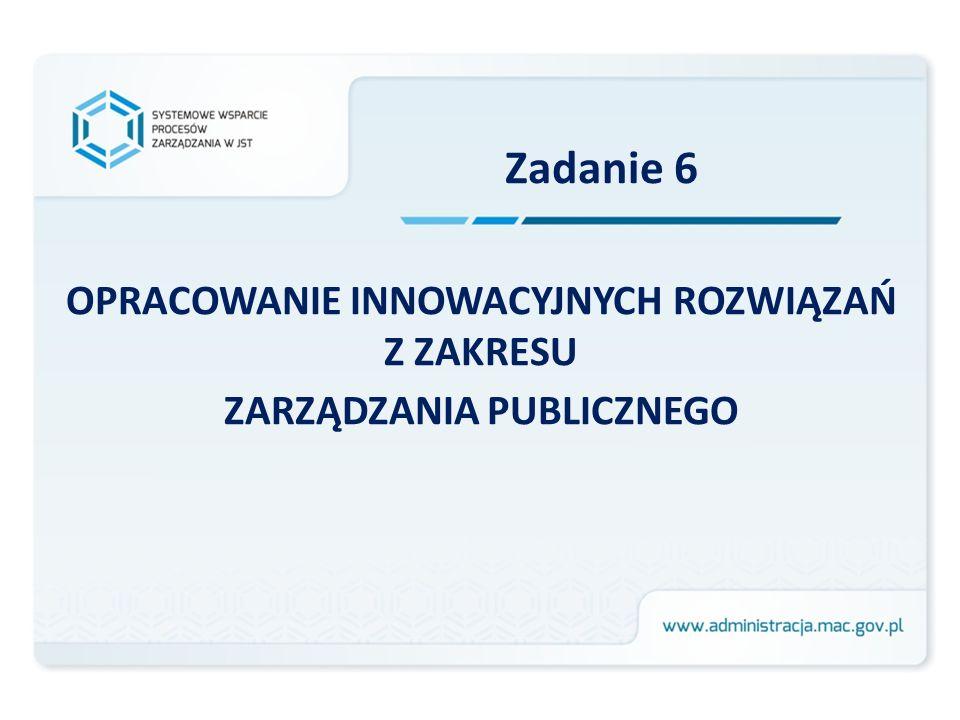 Systemowe wsparcie procesów zarządzania w JST Projekt współfinansowany przez Unię Europejską ze środków Europejskiego Funduszu Społecznego w ramach Programu Operacyjnego Kapitał Ludzki, Priorytet V, Działanie 5.2, Poddziałanie 5.2.2
