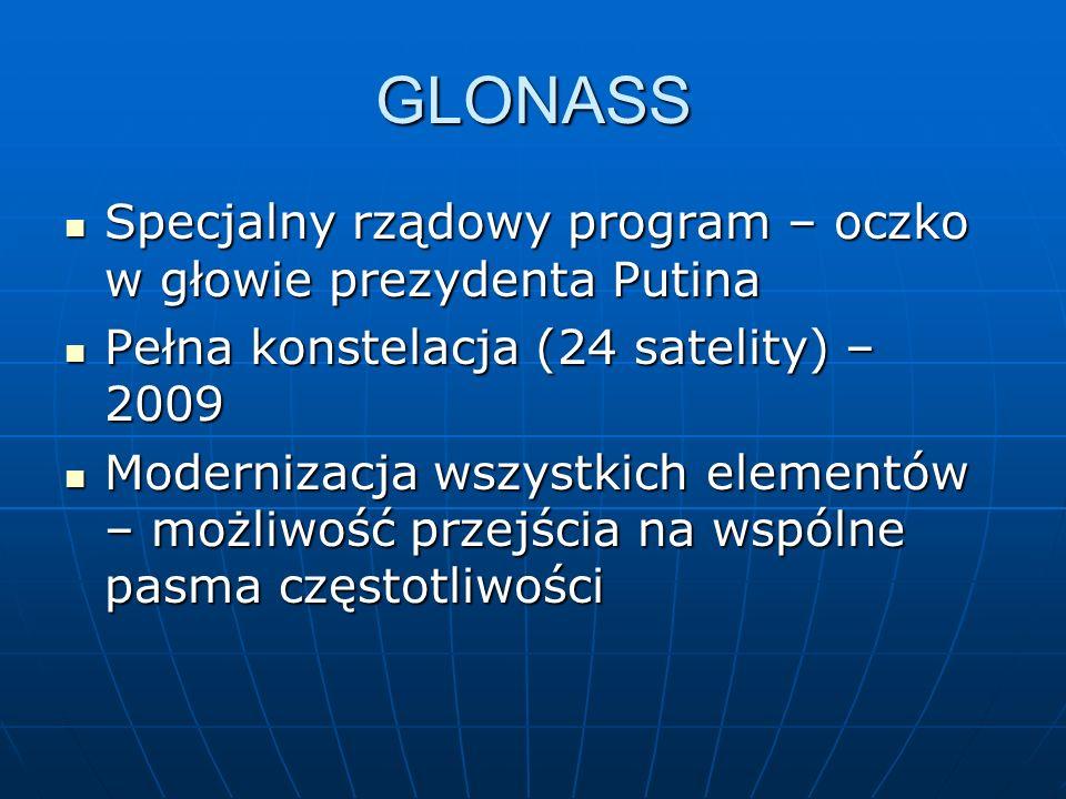GLONASS Specjalny rządowy program – oczko w głowie prezydenta Putina Specjalny rządowy program – oczko w głowie prezydenta Putina Pełna konstelacja (2