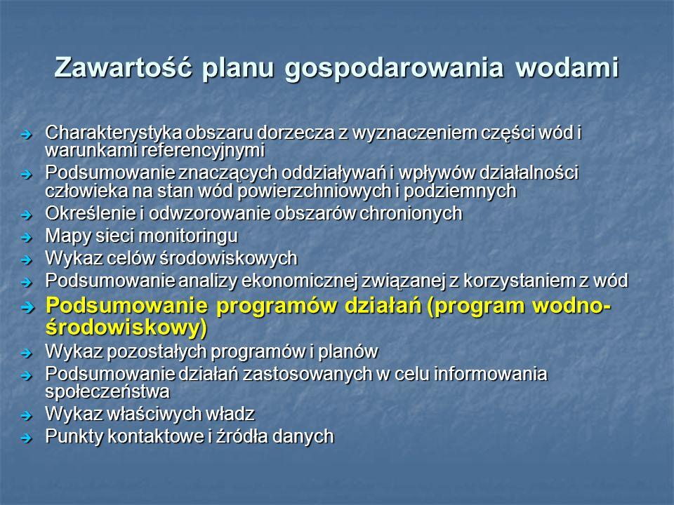 Główne zadania przewidziane do realizacji w zlewniach Łeby, Łupawy i Słupi Opracowanie warunków korzystania z wód regionu 108 tys.