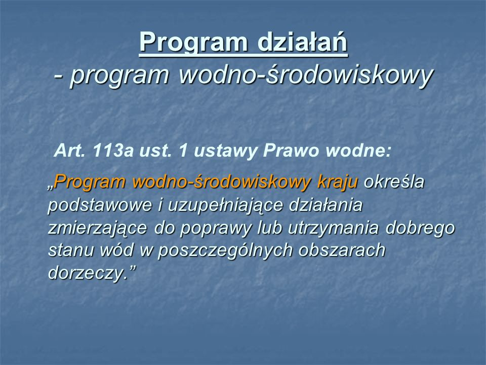 PRZEMYSŁ Realizacja Programu wyposażenia zakładów przemysłu rolno-spożywczego o wielkości nie mniejszej niż 4000 RLM odprowadzających ścieki bezpośrednio do wód w urządzenia zapewniające wymagane przez polskie prawo standardy ochrony wód : Realizacja Programu wyposażenia zakładów przemysłu rolno-spożywczego o wielkości nie mniejszej niż 4000 RLM odprowadzających ścieki bezpośrednio do wód w urządzenia zapewniające wymagane przez polskie prawo standardy ochrony wód : - monitoring zakładów przemysłu rolno-spożywczego o wielkości nie mniejszej niż 4000 RLM odprowadzających ścieki bezpośrednio do wód w zakresie spełnienia wymagań odpowiedniego stopnia oczyszczania ścieków Opracowanie programu zapobiegania poważnym awariom i zarządzanie ryzykiem Opracowanie programu zapobiegania poważnym awariom i zarządzanie ryzykiem - opracowanie programu zapobiegania poważnym awariom przez zakłady o zwiększonym i dużym ryzyku