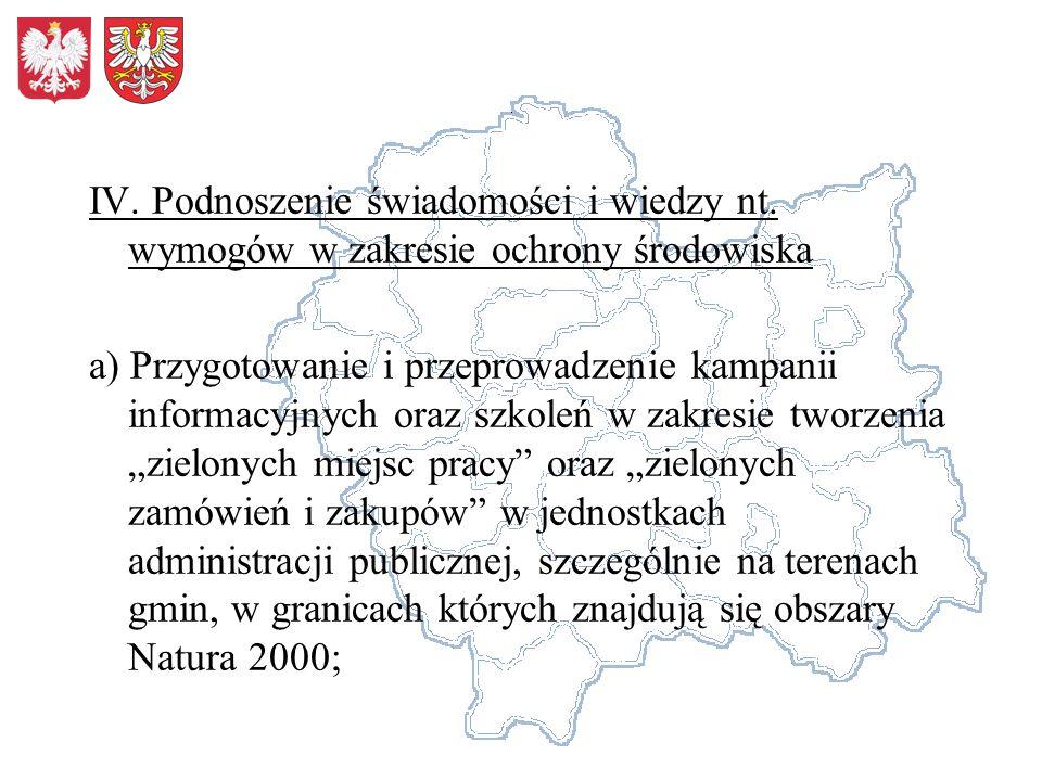 IV. Podnoszenie świadomości i wiedzy nt.