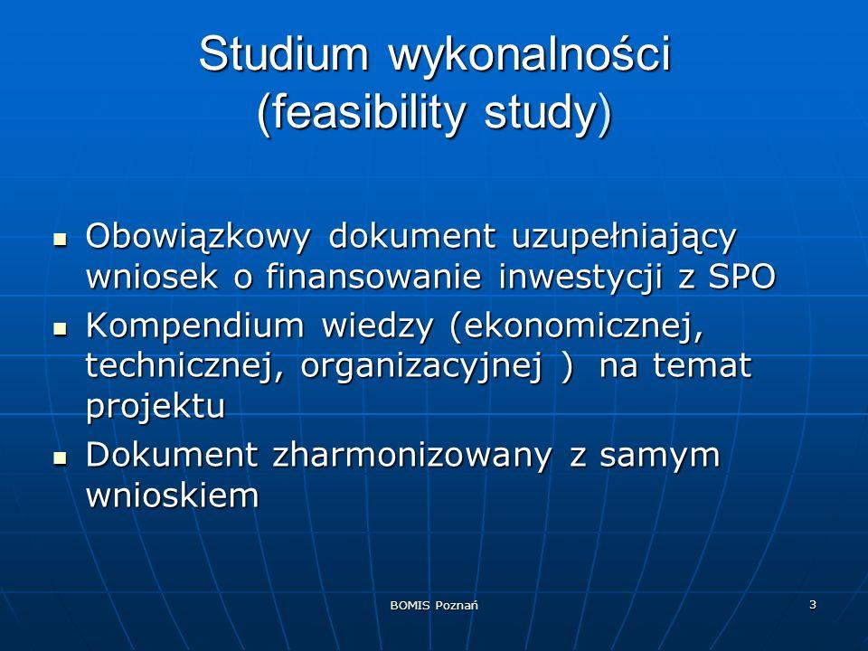 BOMIS Poznań 14 Definicja projektu Krótki opis przedmiotu projektu Krótki opis przedmiotu projektu Zakres projektu Zakres projektu Celowość projektu Celowość projektu