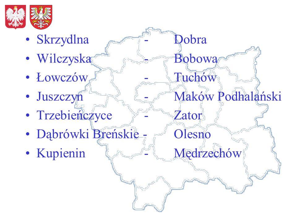 Skrzydlna-Dobra Wilczyska-Bobowa Łowczów-Tuchów Juszczyn-Maków Podhalański Trzebieńczyce-Zator Dąbrówki Breńskie - Olesno Kupienin -Mędrzechów