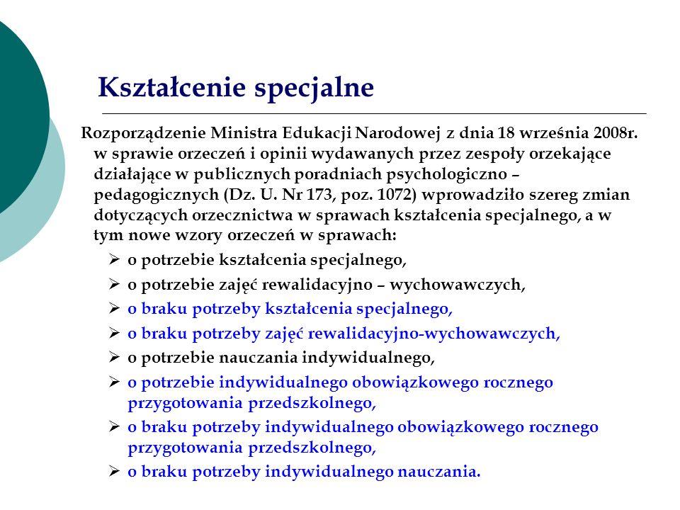 Rozporządzenie Ministra Edukacji Narodowej z dnia 18 września 2008r. w sprawie orzeczeń i opinii wydawanych przez zespoły orzekające działające w publ