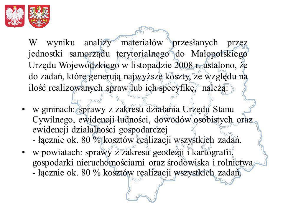 w gminach: sprawy z zakresu działania Urzędu Stanu Cywilnego, ewidencji ludności, dowodów osobistych oraz ewidencji działalności gospodarczej - łączni