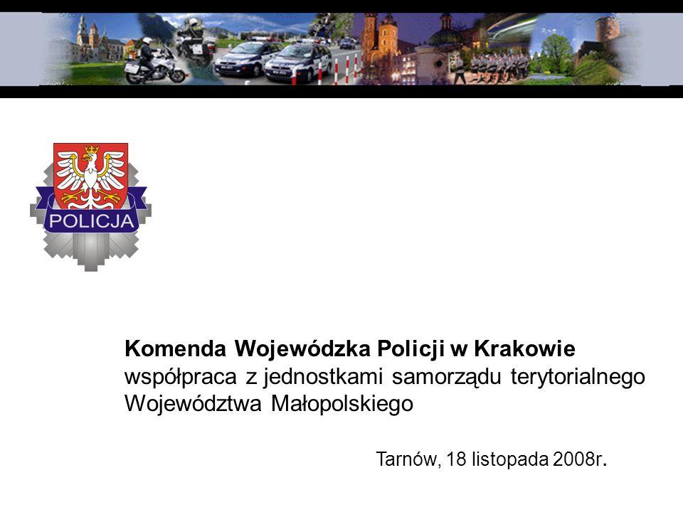 Komenda Wojewódzka Policji w Krakowie współpraca z jednostkami samorządu terytorialnego Województwa Małopolskiego Tarnów, 18 listopada 2008r.