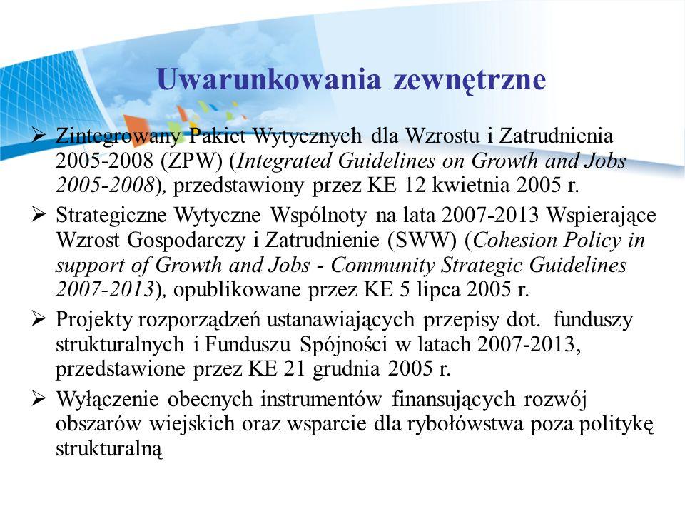 Zintegrowany Pakiet Wytycznych dla Wzrostu i Zatrudnienia 2005-2008 (ZPW) (Integrated Guidelines on Growth and Jobs 2005-2008), przedstawiony przez KE