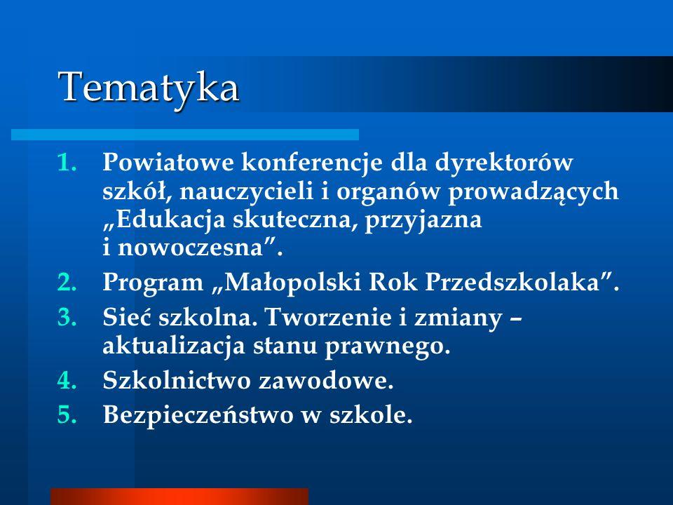 Program Małopolski Rok Przedszkolaka Program jest skierowany do dzieci w wieku 3 – 6 lat, ich rodziców oraz nauczycieli: przedszkoli publicznych i niepublicznych, oddziałów przedszkolnych w szkołach podstawowych i innych form wychowania przedszkolnego.