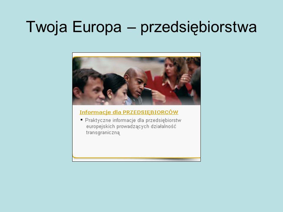 Twoja Europa – przedsiębiorstwa