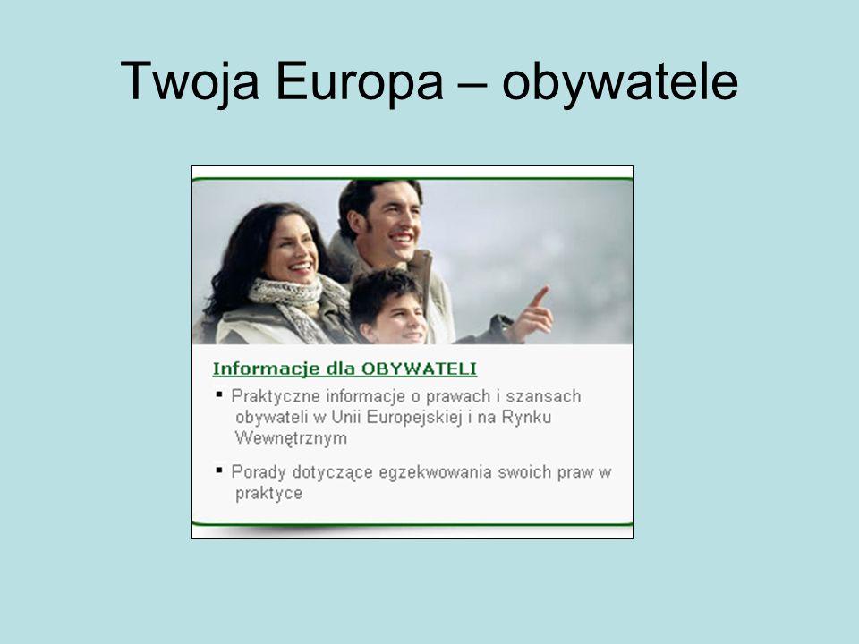 Twoja Europa – obywatele