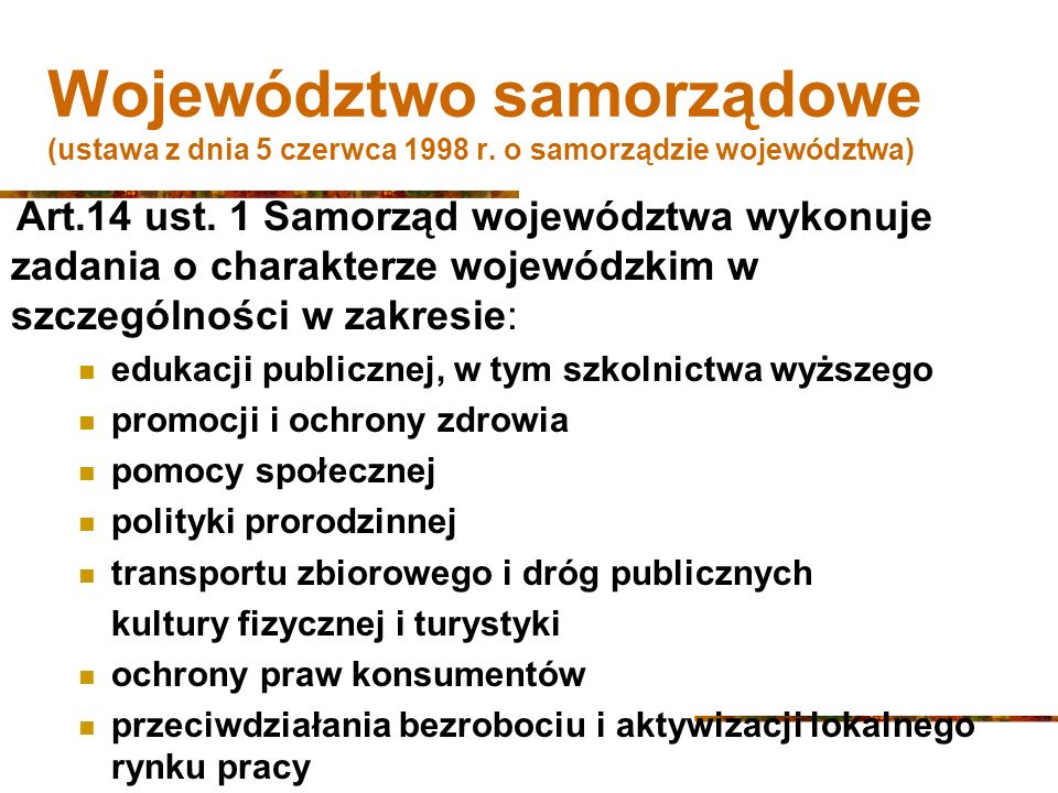Województwo samorządowe (ustawa z dnia 5 czerwca 1998 r.