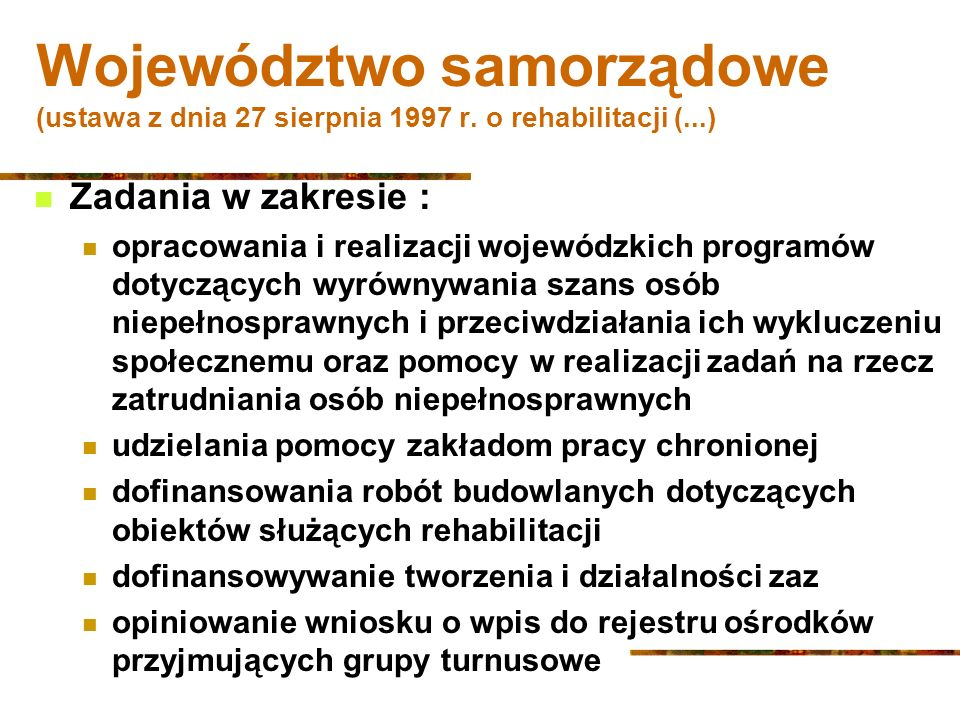 Województwo samorządowe (ustawa z dnia 27 sierpnia 1997 r.