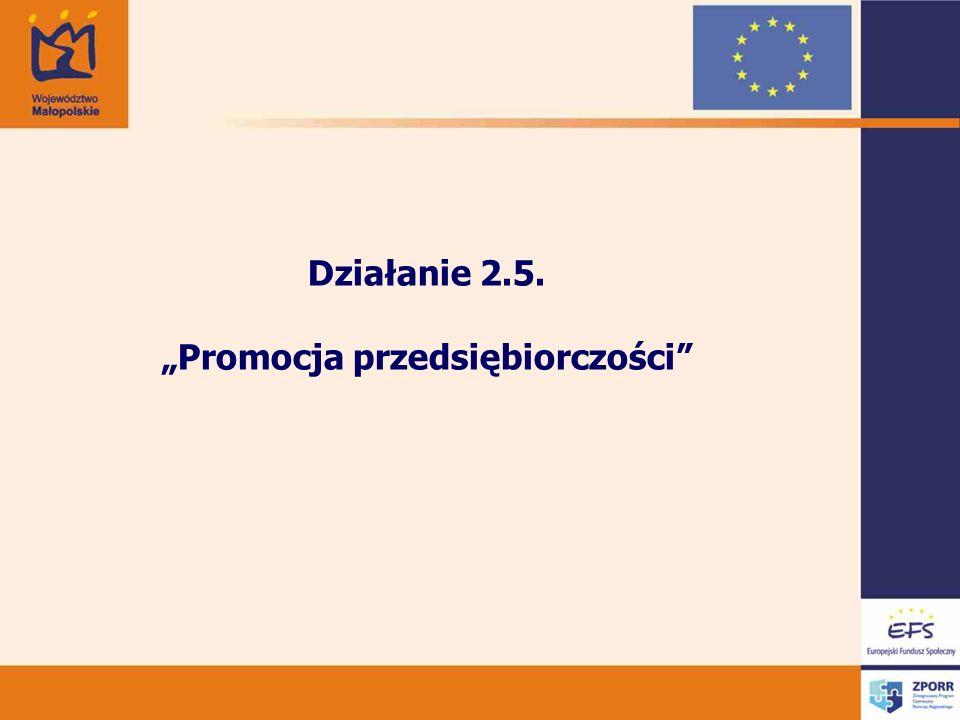 Działanie 2.5. Promocja przedsiębiorczości