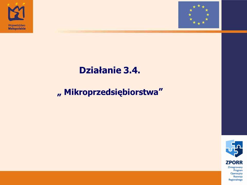 Działanie 3.4. Mikroprzedsiębiorstwa