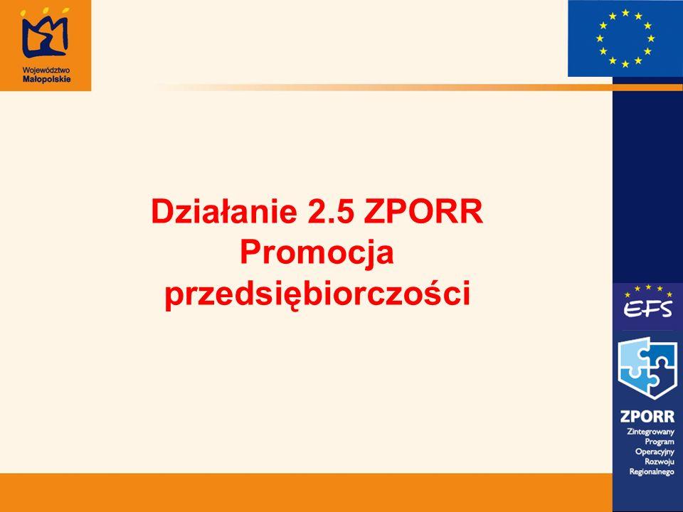 Działanie 2.5 ZPORR Promocja przedsiębiorczości