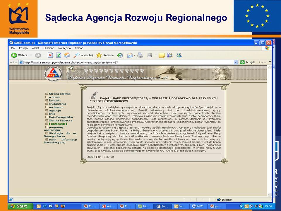 Sądecka Agencja Rozwoju Regionalnego