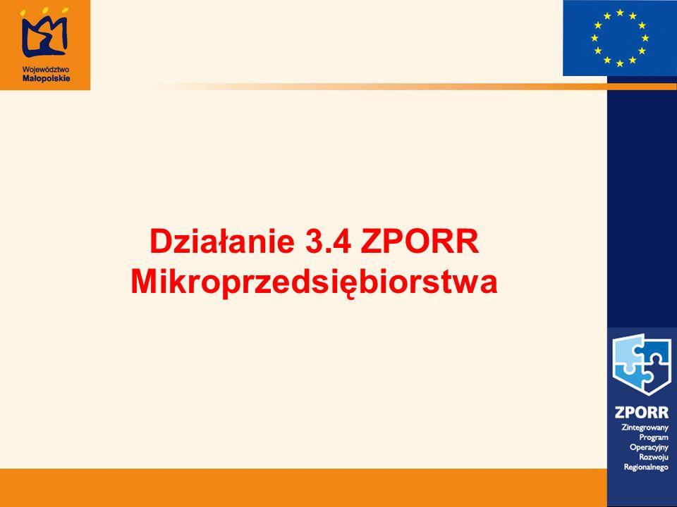 Działanie 3.4 ZPORR Mikroprzedsiębiorstwa
