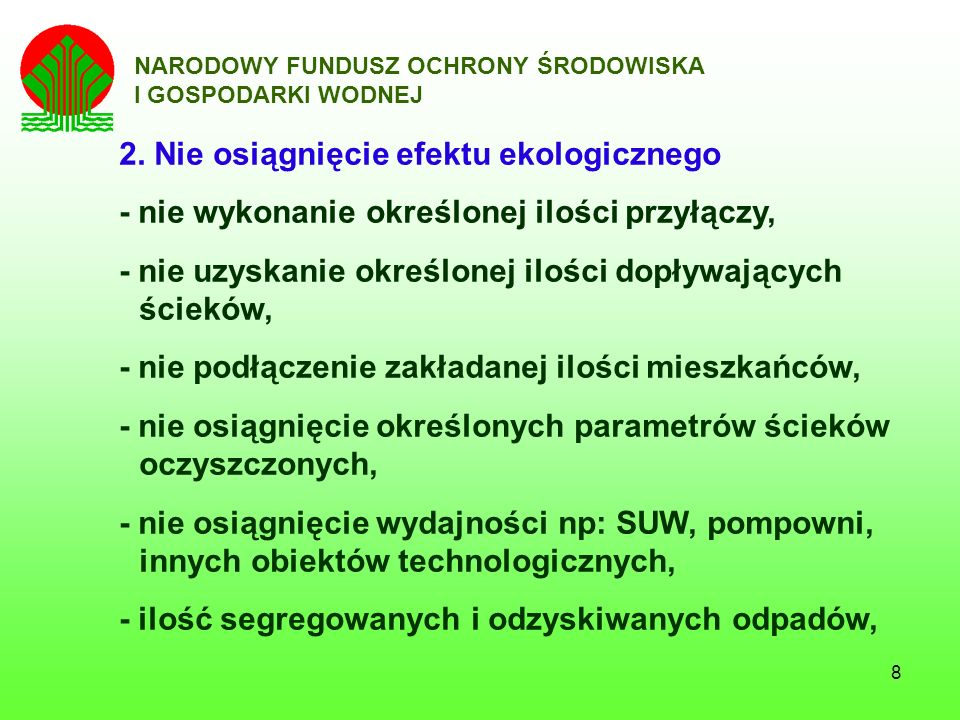 9 NARODOWY FUNDUSZ OCHRONY ŚRODOWISKA I GOSPODARKI WODNEJ 3.