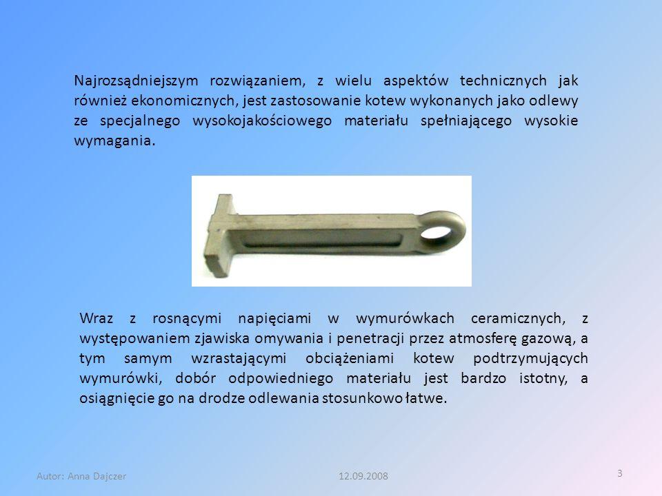 3 Autor: Anna Dajczer 12.09.2008 Najrozsądniejszym rozwiązaniem, z wielu aspektów technicznych jak również ekonomicznych, jest zastosowanie kotew wyko