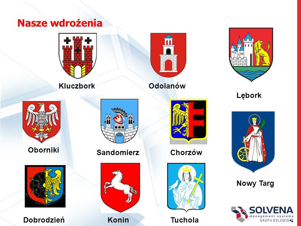Nasze wdrożenia KoninTuchola Chorzów Dobrodzień Sandomierz Oborniki Lębork Nowy Targ KluczborkOdolanów