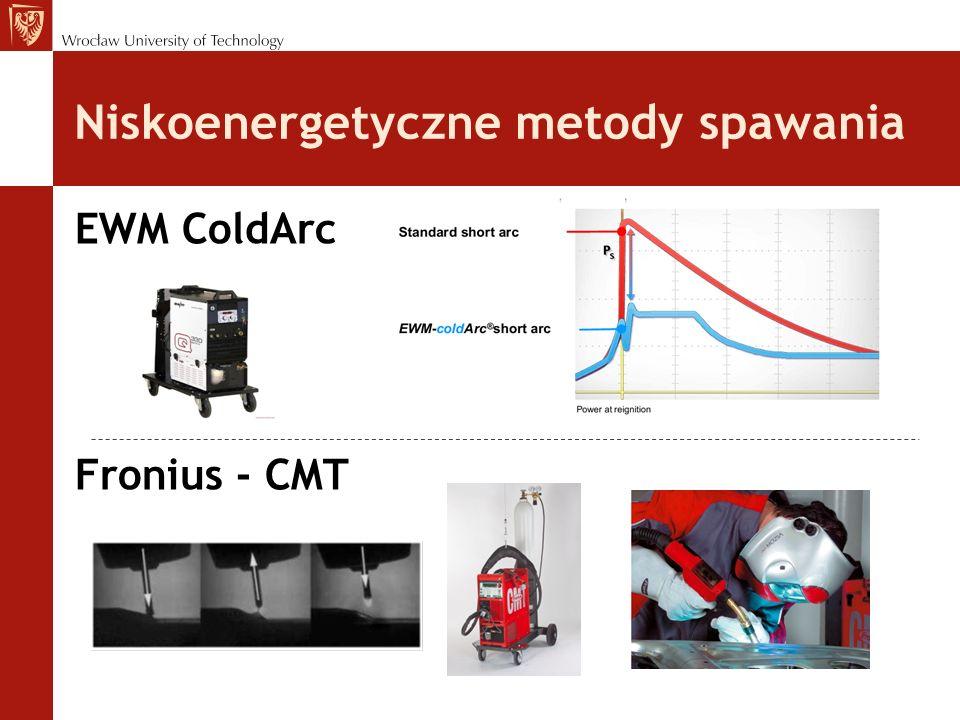 Wnioski -badania wizualne wykazały zdecydowanie większą estetykę złączy wykonanych metodami ColdArc i CMT, które charakteryzują się brakiem rozprysków, regularnym kształtem lica oraz bardzo małą ilością tlenków na jego powierzchni.
