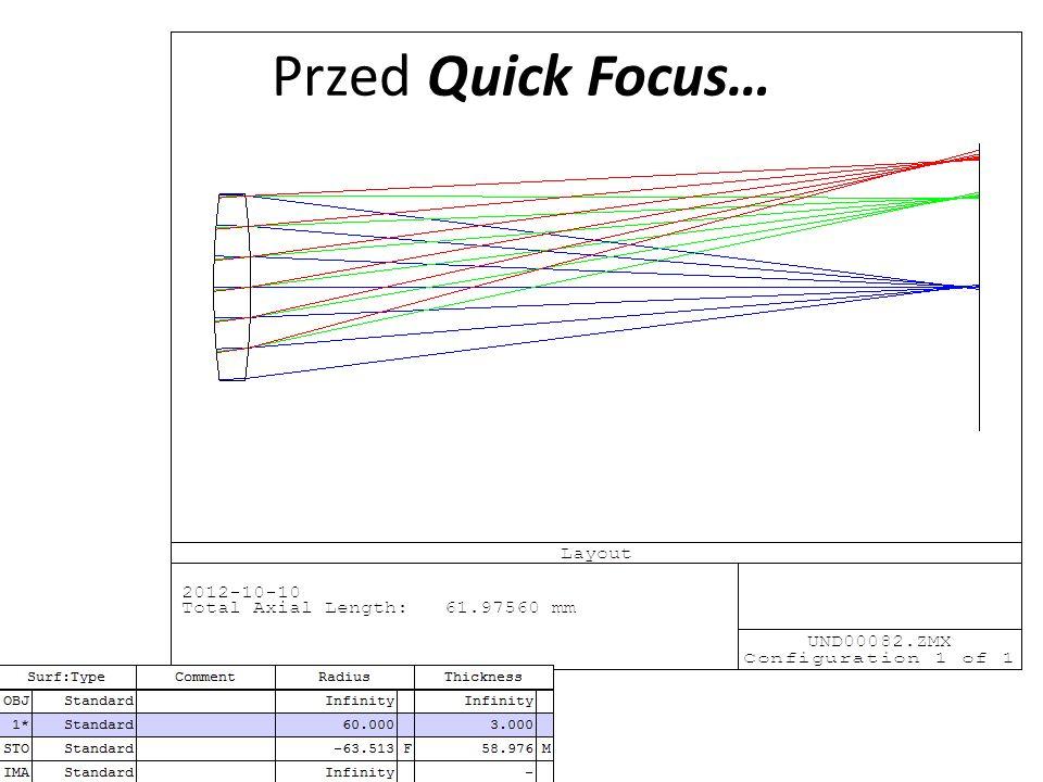 Przed Quick Focus…