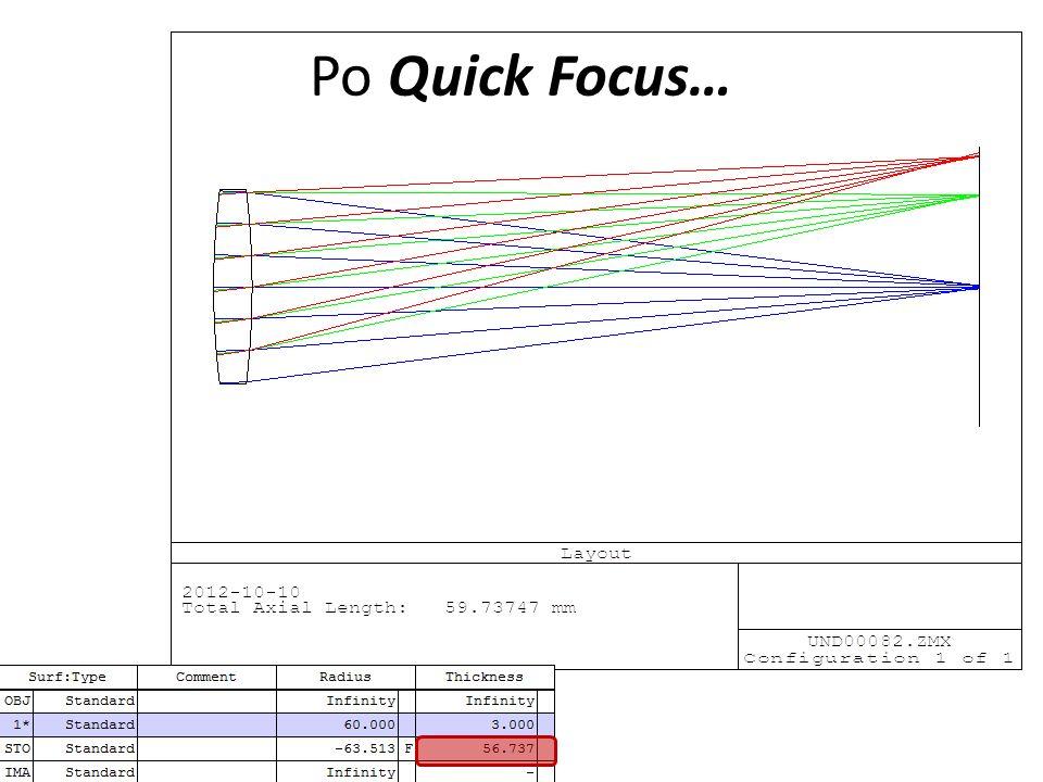 Po Quick Focus…