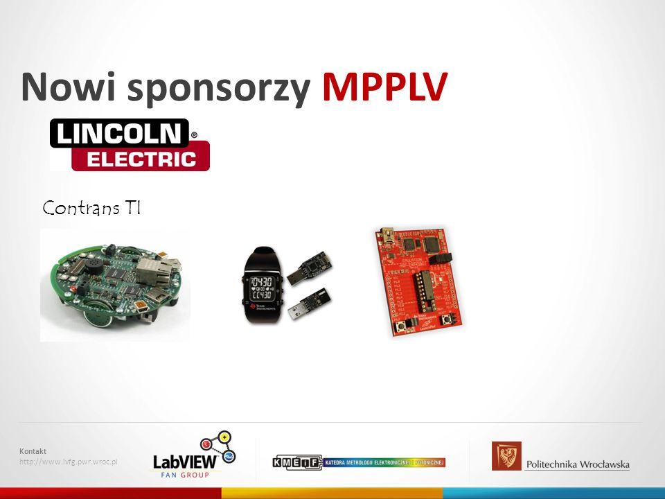 Nowi sponsorzy MPPLV Kontakt http://www.lvfg.pwr.wroc.pl Contrans TI