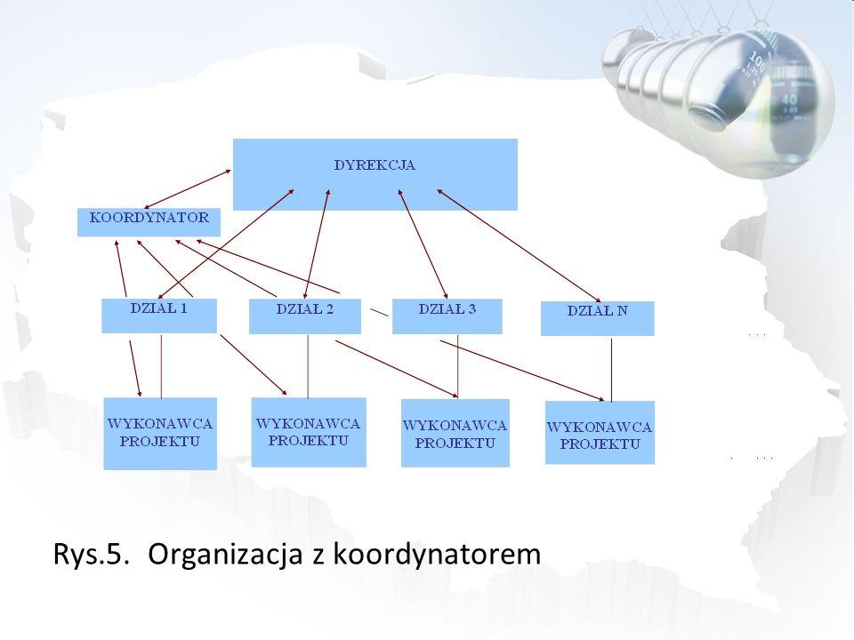 Rys.5. Organizacja z koordynatorem
