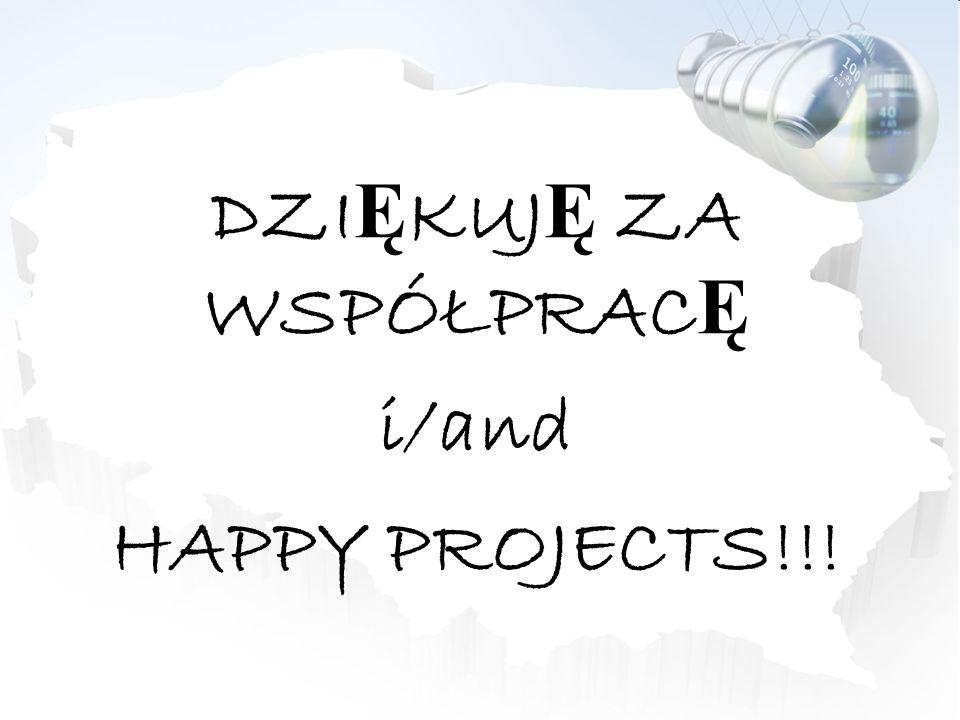 DZI Ę KUJ Ę ZA WSPÓŁPRAC Ę i/and HAPPY PROJECTS!!!