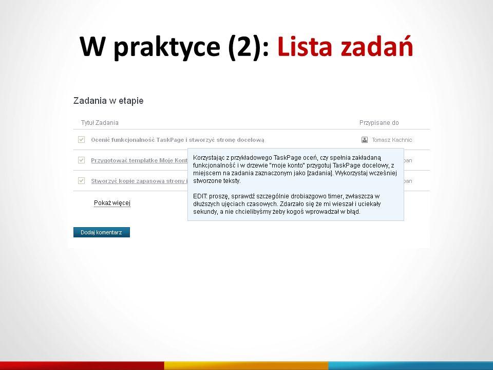 W praktyce (2): Lista zadań