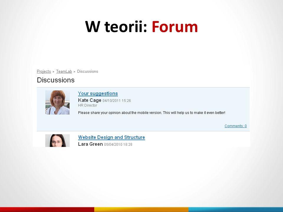 W teorii: Forum