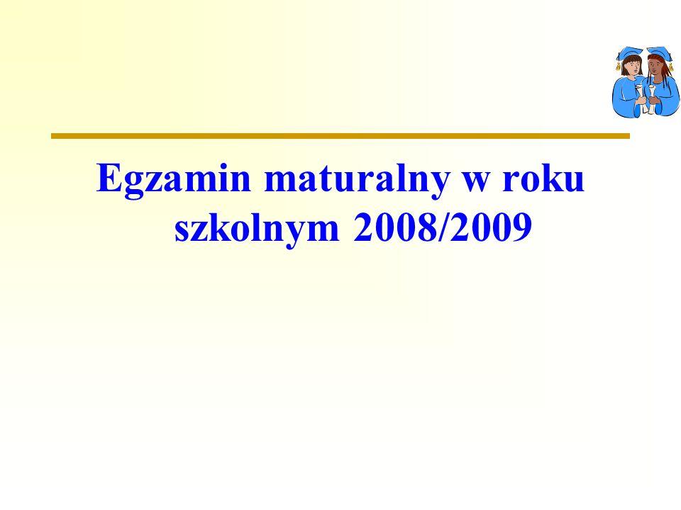 Egzamin maturalny w roku szkolnym 2008/2009