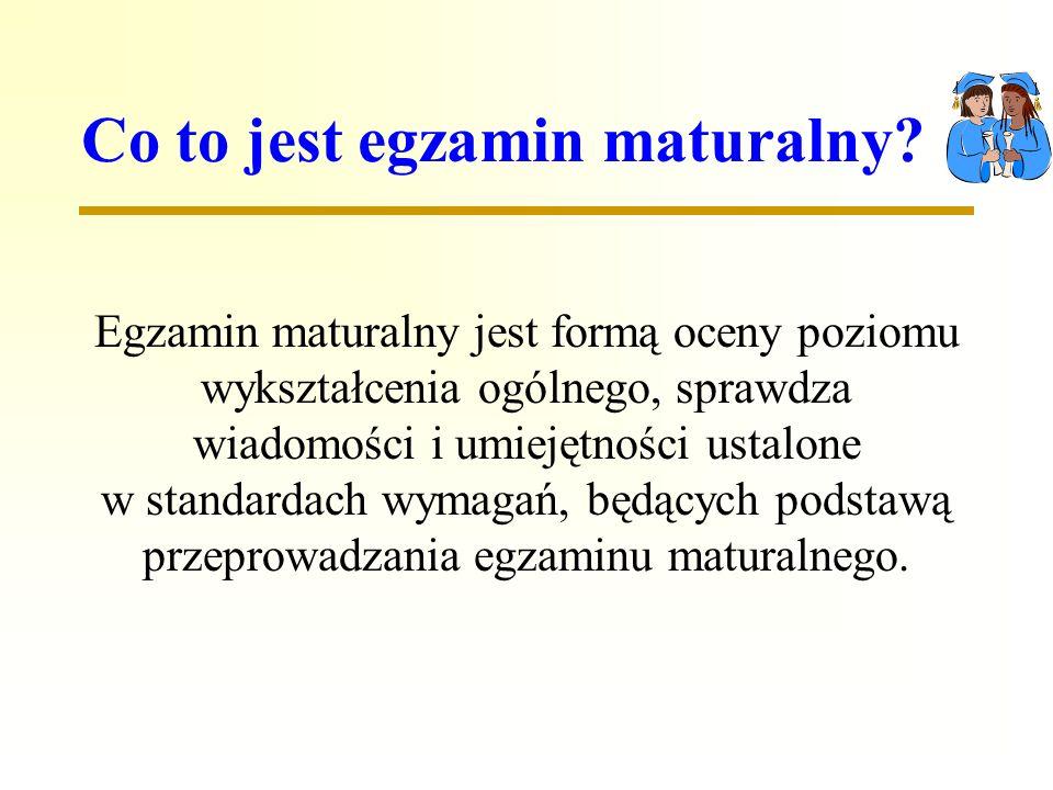 Co to jest egzamin maturalny.