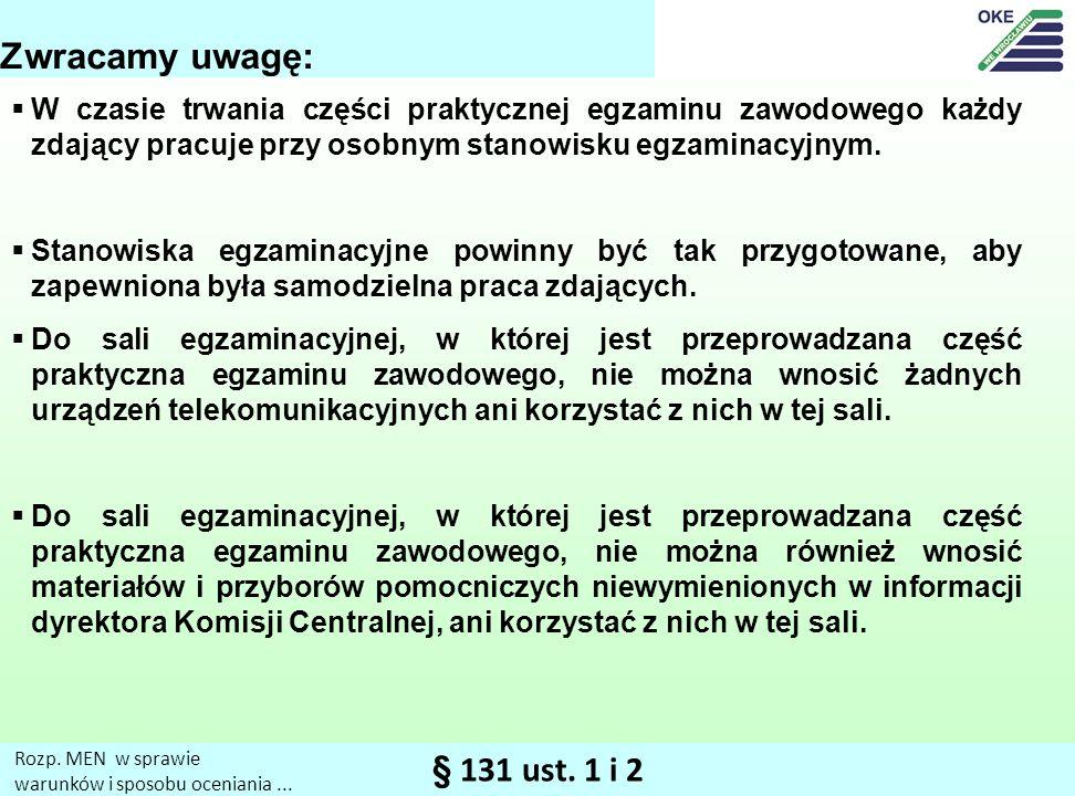 § 131 ust.1 i 2 Rozp. MEN w sprawie warunków i sposobu oceniania...