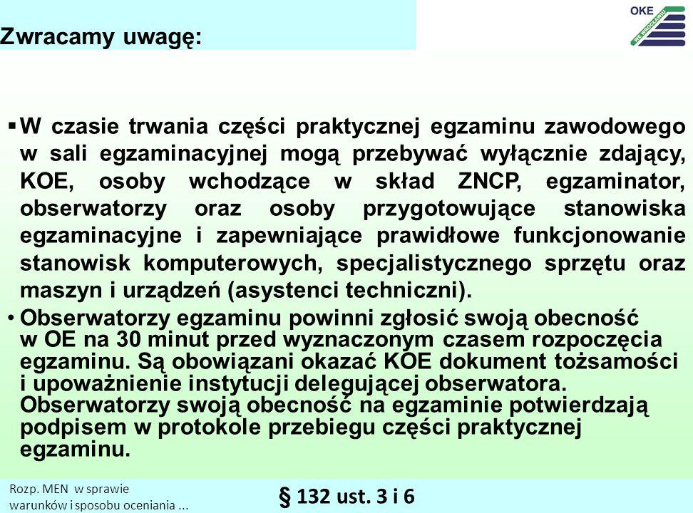 § 132 ust.3 i 6 Rozp. MEN w sprawie warunków i sposobu oceniania...