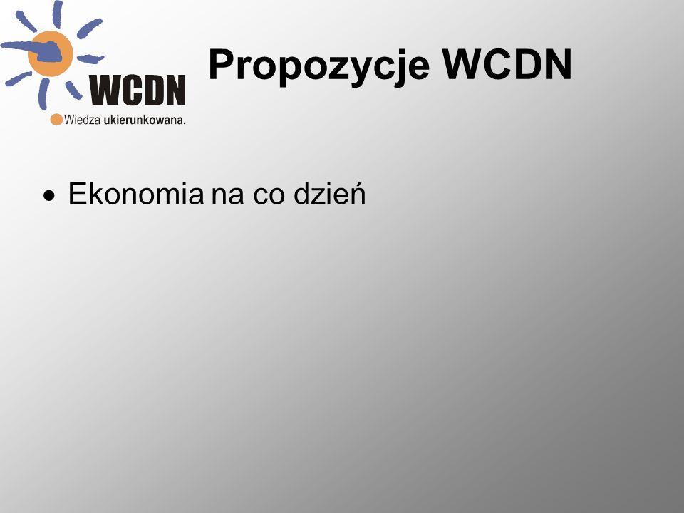 Propozycje WCDN Ekonomia na co dzień