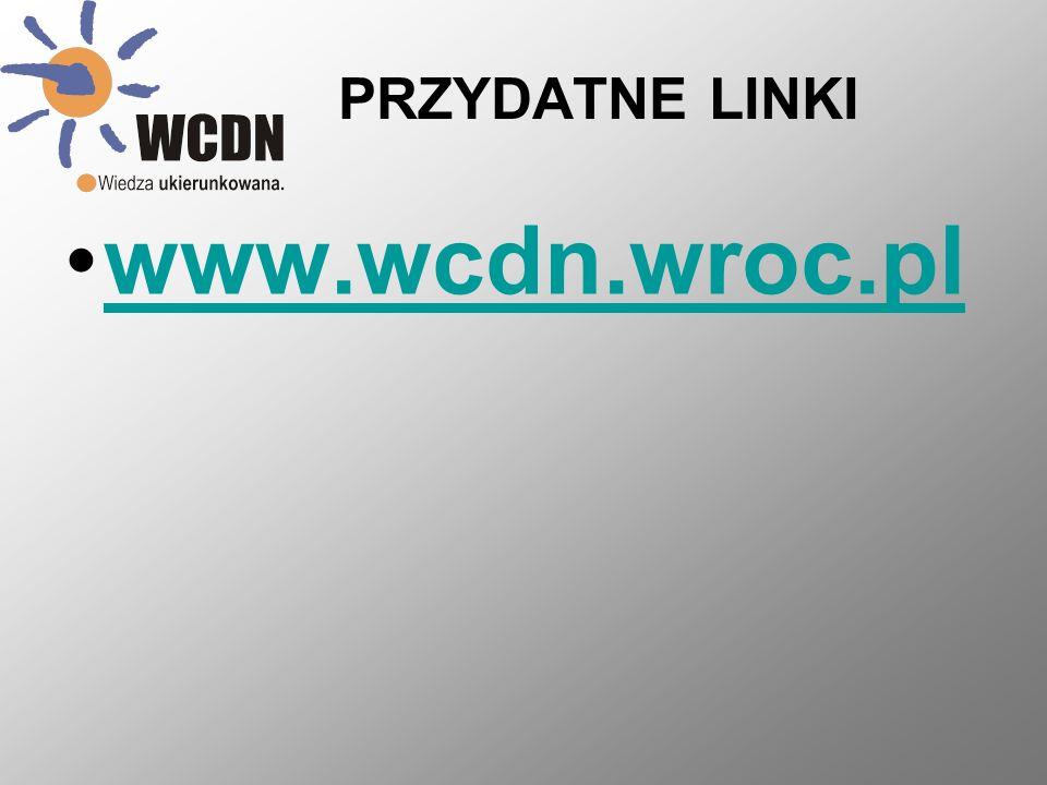 PRZYDATNE LINKI www.wcdn.wroc.pl