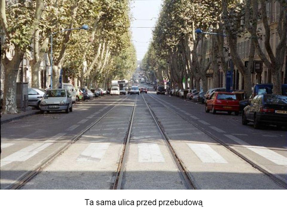 Ta sama ulica przed przebudową