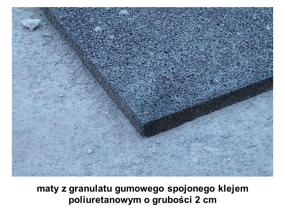 maty z granulatu gumowego spojonego klejem poliuretanowym o grubości 2 cm