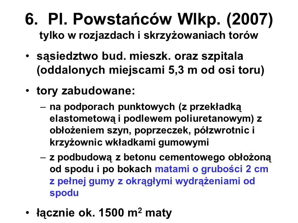 6.Pl. Powstańców Wlkp. (2007) tylko w rozjazdach i skrzyżowaniach torów sąsiedztwo bud.