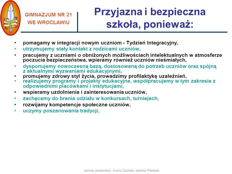 GIMNAZJUM NR 21 WE WROCŁAWIU autorzy prezentacji: Iwona Czubata, Izabela Piekarek Uczymy poszanowania tradycji JASEŁKA DZIEŃ WIOSNY ANDRZEJKI BAL ABSOLWENTA PASOWANIE WALENTYNKI
