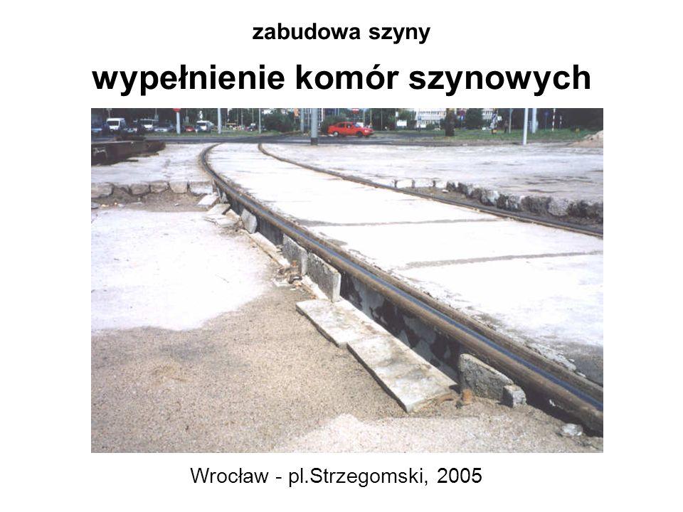zabudowa szyny wypełnienie komór szynowych Wrocław - pl.Strzegomski, 2005
