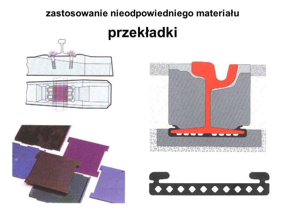 zastosowanie nieodpowiedniego materiału skokowa zmiana sztywności Wrocław - skrzyżowanie ul.Traugutta i Krasińskiego, 2003