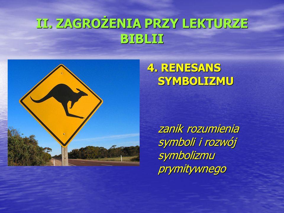 II. ZAGROŻENIA PRZY LEKTURZE BIBLII 4.